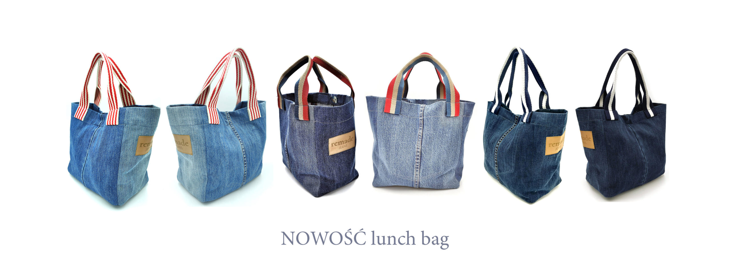 dżinsowa torba na lunch lesswaste slowfashion