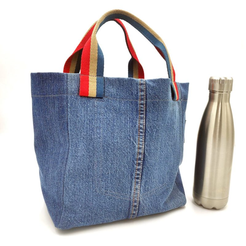 jeansowa torba na lunch bag slowfashion